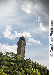 The Wallace Monument in Scotland - Shot of the Wallace...