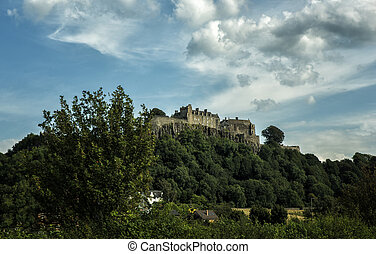 Dramatic view of Stirling Castle in Scotland