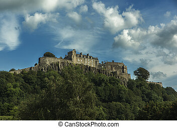Stirling Castle in Scotland - Dramatic view of Stirling...