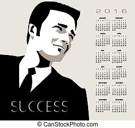 2016 businessman calendar