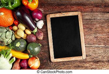 Large assortment of fresh autumn vegetables - Large...