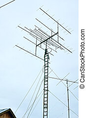 Antenna system mast - The rotating antenna array for...