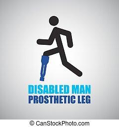 prosthesis leg icon