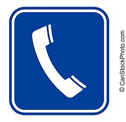 Telephone receiver sign