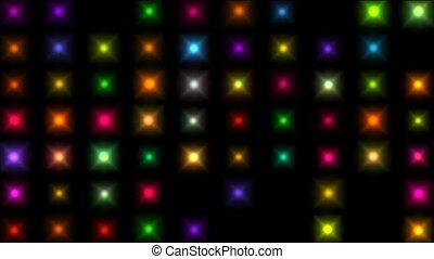 Color square matrix, disco light,holiday