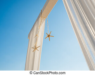 Beach Wedding Arch with Starfish