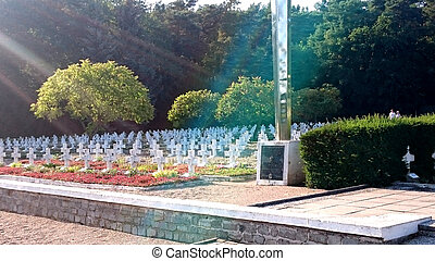 War Cementary in Siekierki, Poland - War Cementary in...
