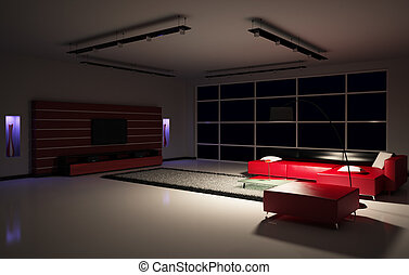 Living room interior 3d - Modern Living room interior 3d...