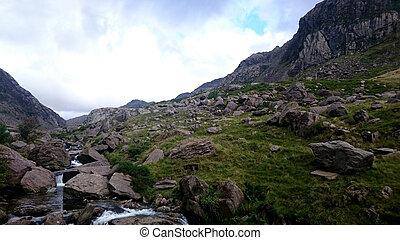 góra, potok