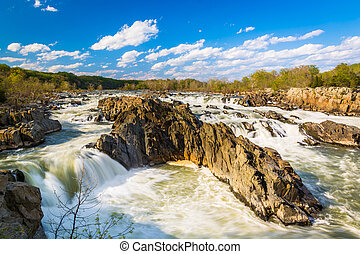 Rapids in the Potomac River at Great Falls Park, Virginia