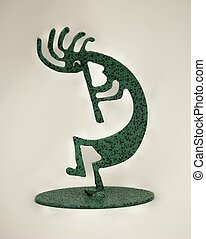 Kokopelli is the Hopi name for a humpbacked flute player.