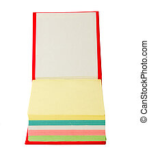 memo pad - colorful memo pad on a white background