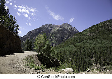 Alpine Loop Trail - A view of the Sangre De Cristo Mountains...