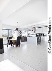 Elegant modern house - Elegant sunny modern house in...