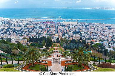 Aerial View of Haifa City, Israel, Israel