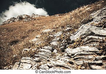 Mountain range Mala Fatra in Slovakia