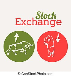 Stock Exchange  digital design, vector illustration eps 10