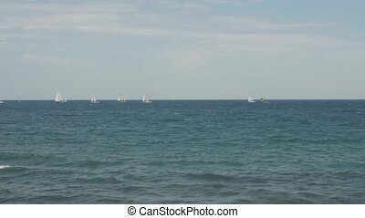 Marine regatta sailing, yachting sea