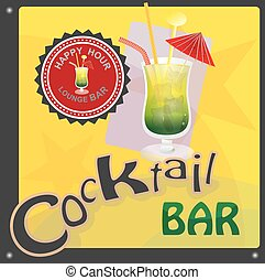 Cocktail bar - This file represents a sign or a label or a...