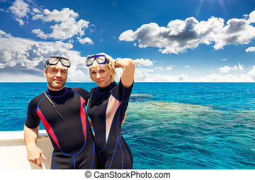 Young adult couple in beach resort