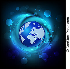 Map globe web logo - Map globe connected universe galaxy web...