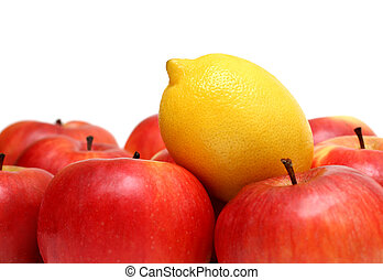 different concepts with fruits