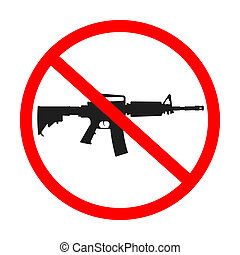 no guns allowed, abstract art illustration