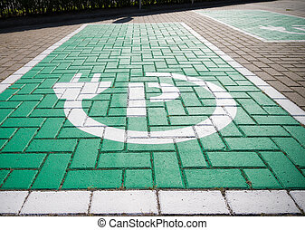 electric car parking place - parking place with charging...