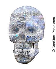 diamond skull on white background