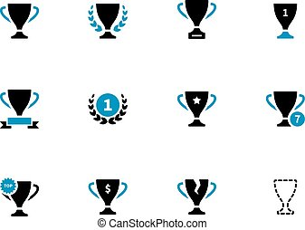 Cup duotone icons on white background. Vector illustration.