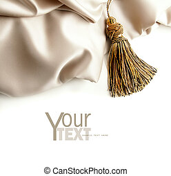 Fabric satin texture on white background