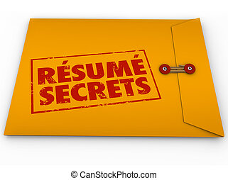 Resume Secrets Yellow Envelope Help Guidance Tips Advice Job...