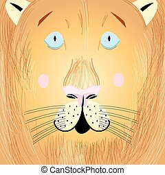 portrait of a lion - Vector illustration of a beautiful...