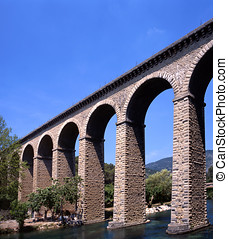 Aquaduct in the Vaucluse,France