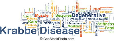 Krabbe disease background concept