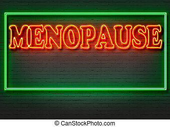 MENOPAUSE - writing words MENOPAUSE on bricks background...