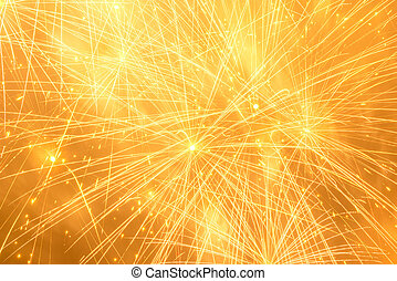 Fireworks. - Fireworks in the night winter sky. New year...