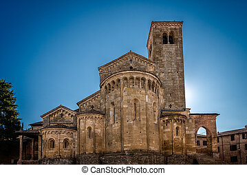 La Collegiata CastellArquato front - In the picture the...