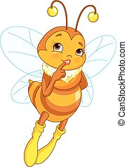 Femininity Bee - Illustration of cute femininity bee