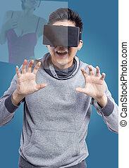virtuel, réalité, porno,