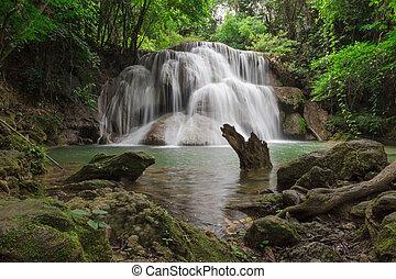 The Huai Mae Kamin waterfall