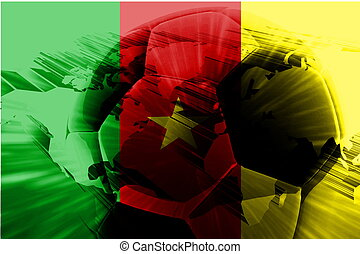Flag of Cameroon soccer