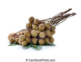 Freshness longans on white background