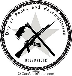 Day of Peace and Reconciliation Mozambique Vector...