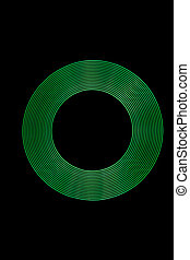 Light Painting Green Light Rings