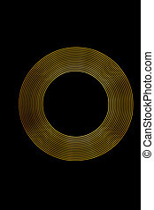 Light Painting Gold Light Rings