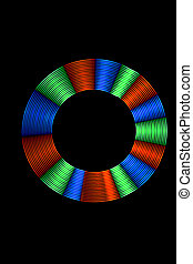Light Painting Multicolor Light Ring