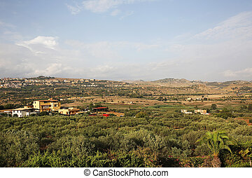 Valley of the Temples Agrigento - landscape of the Valley of...