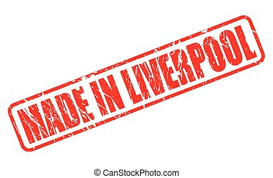 Made in Liverpool red stamp text on white
