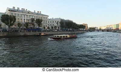 Embankment of the Neva river